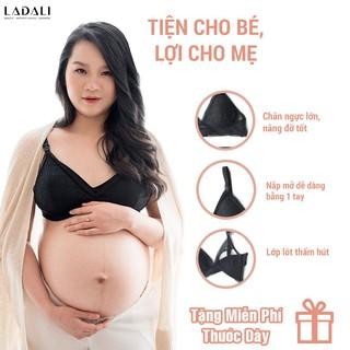 Áo ngực cho bé bú Ladali, đồ lót sau sinh bigsize S209 – Đen