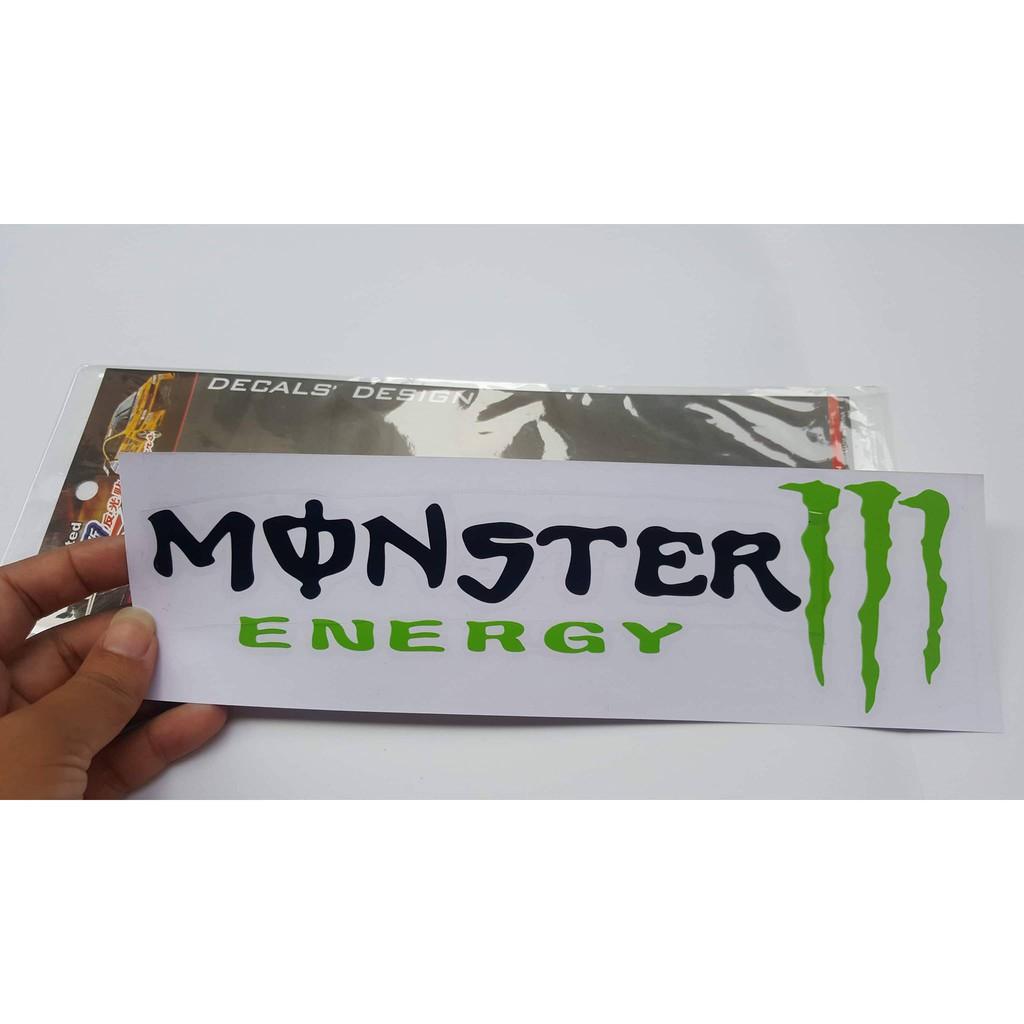 Miếng dán decal monster cho xe máy, oto,.. 7x25cm