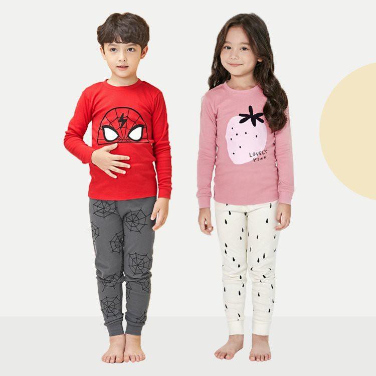 Đồ bộ cotton thu đông 2020 cho bé trai, bé gái Unifriend Hàn Quốc UniT04