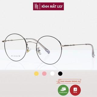 Gọng kính cận Lilyeyewear kim loại, mắt tròn, nhiều màu - Y8913