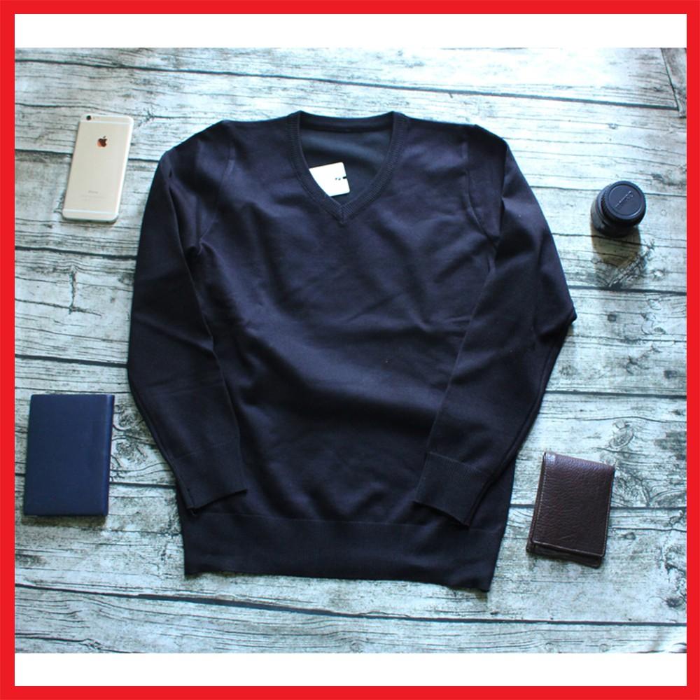 Áo len nam trơn màu ghi sáng - Áo len cổ tròn dài tay- áo len ấm mùa đông