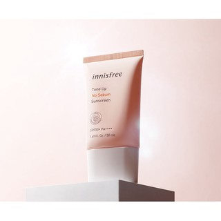 Kem chống nắng nâng tone, kiềm dầu Innisfree tone Up No Sebum Sunscreen SPF50/PA++++ 50ml