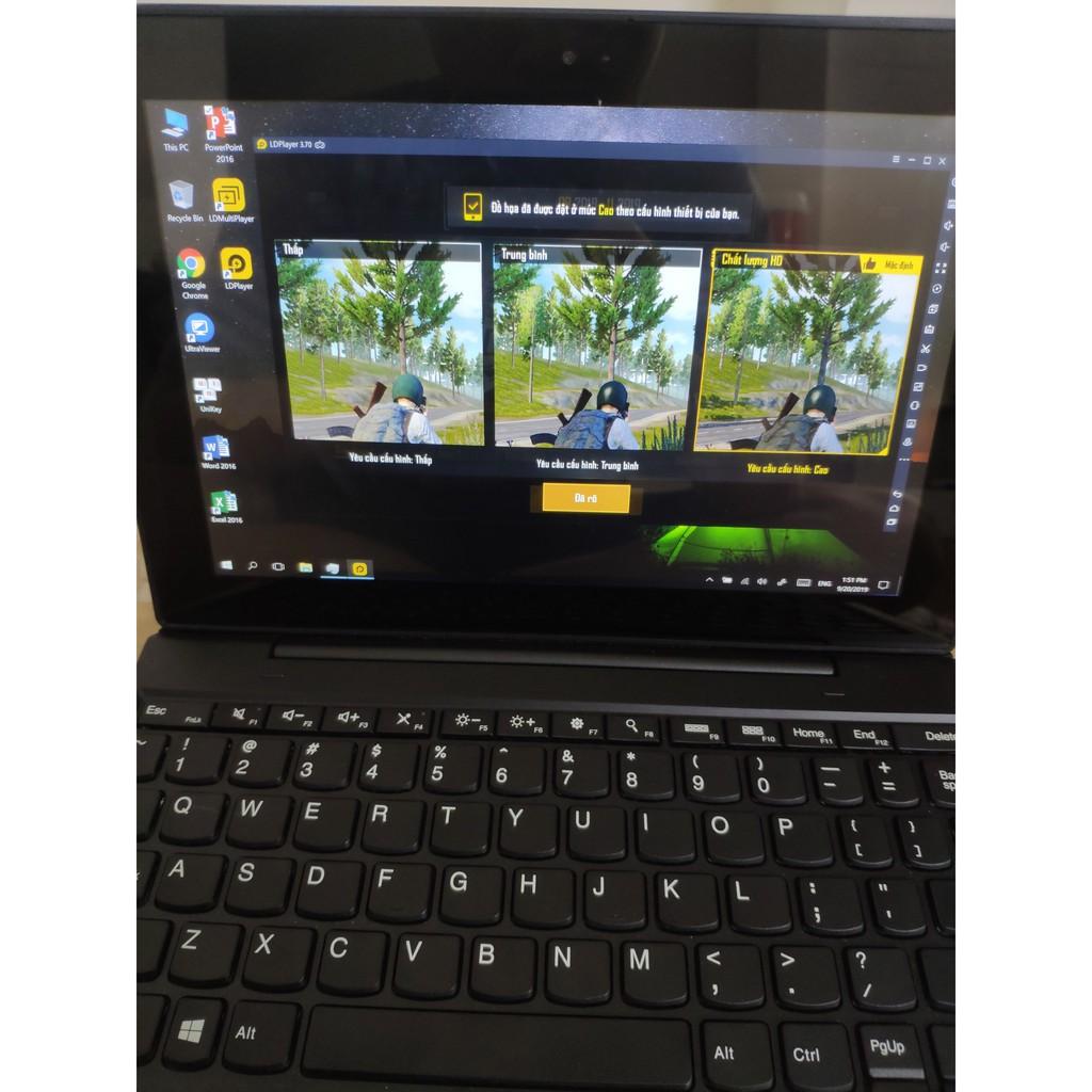 Laptop 2 trong 1 Lenovo Tablet 10 Special Edition màn hình cảm ứng 10 inch 8GB RAM 256GB Likenew 99% đẹp như mới