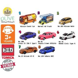 COMBO 8 xe mô hình TOMICA khác nhau