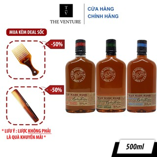 Dầu gội xả tắm 3 trong 1 18.21 Man Made Wash Sweet Tobacco và Spiced Vanilla - 500ml