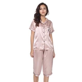 ĐỒ MẶC NHÀ pijama Phi Lụa QUẦN LỬNG thiết kế ( Ảnh thật)