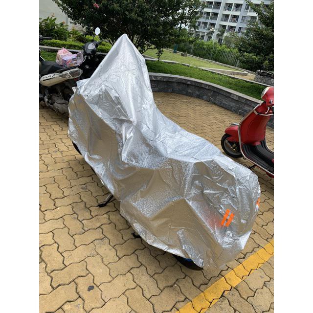 Áo Trùm Xe Bạt Trùm Xe Máy 3D Tráng Nhôm Cao Cấp Che Mưa  Nắng Cách Nhiệt Chống Tia UV Tránh Phai Màu Xe vừa SH