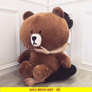 Gấu Bông Brown 1m3 Khổ Vải ,Cao 1m2 RẺ VÔ ĐỊCH