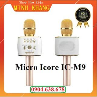 [Free Ship] Mic Hát Karaoke Kèm Loa Bluetooth Icore M9 Cao Cấp - Hát Cực Hay - Tích Hợp 3 in 1 Đầy Đủ Chức Năng