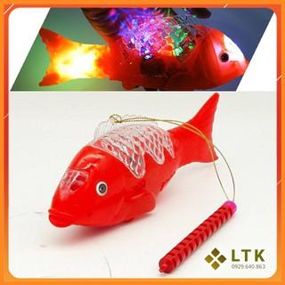 Đèn trung thu cá chép [FREE SHIP] Đèn lồng trung thu cá chép có đèn nhạc biết quẫy đuôi phát sáng 7 màu