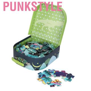 Punkstyle 104Pcs DIY Child Kid Jigsaw Puzzle Early Educational Toy with Portable Box