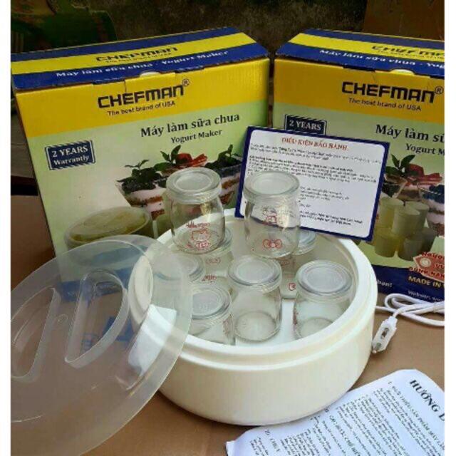 Máy làm sữa chua 8 cốc thuỷ tinh chefman - 2915295 , 1085386353 , 322_1085386353 , 139000 , May-lam-sua-chua-8-coc-thuy-tinh-chefman-322_1085386353 , shopee.vn , Máy làm sữa chua 8 cốc thuỷ tinh chefman