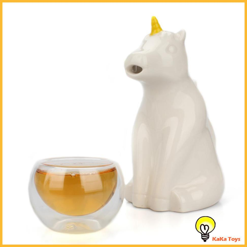 Novelty Unicorn Water Pot for Children Small Ceramic Jug Kids Mini Kettle Jug