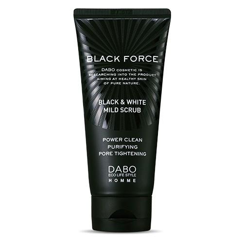 Sữa rửa mặt than hoạt tính trị mụn, sạch nhờn cho nam DABO Black Force