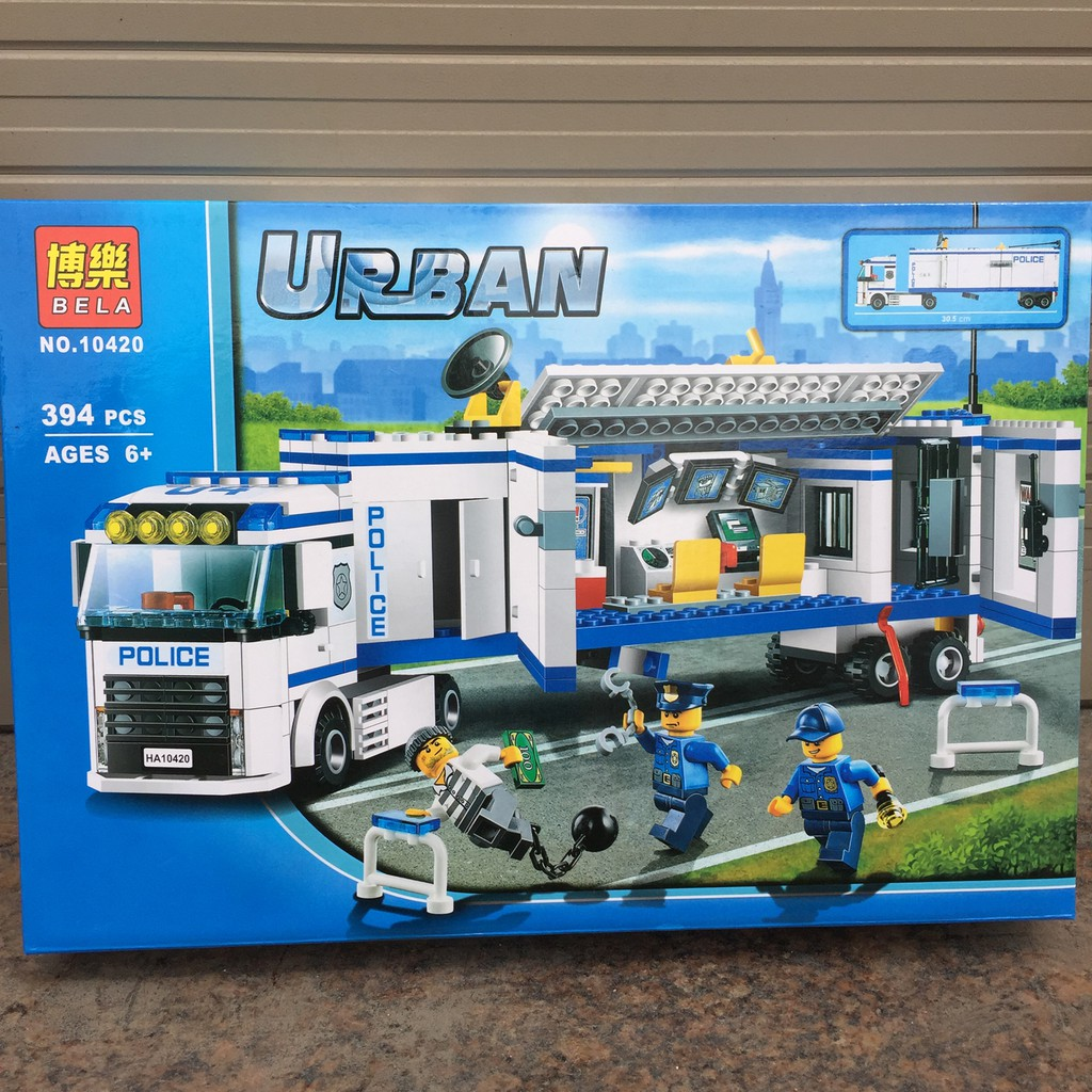 Xếp hình Lego Urban - Xe cảnh sát săn bắt cướp 394 chi tiết