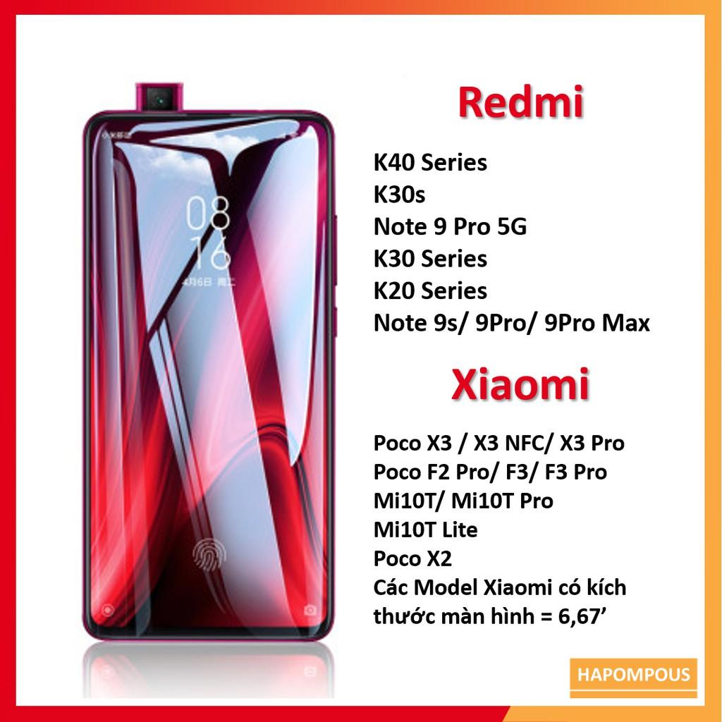 Cường Lực MONQIQI Redmi K20 / K30 / K30s / K30 Pro / Redmi K40 / K40 Pro / Mi 10T  / Mi 9T / Poco X2, Full màn hình