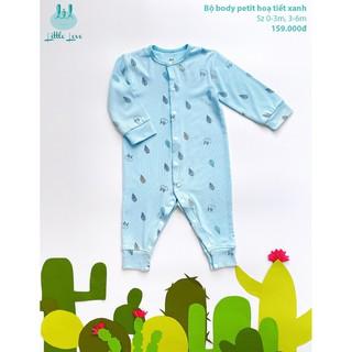 [Mã LILGRO20 giảm 15% đơn 99K] Bộ body pettit họa tiết cho bé sơ sinh đến 6 tháng little love
