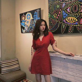 ☀️Restock đầm bi đỏ