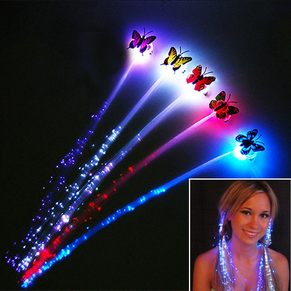 Colorful Baby LED Toys Butterfly Light-Up Pigtail Headwear Concert Cheerleaders Cheer Prop Kids Glowing #2