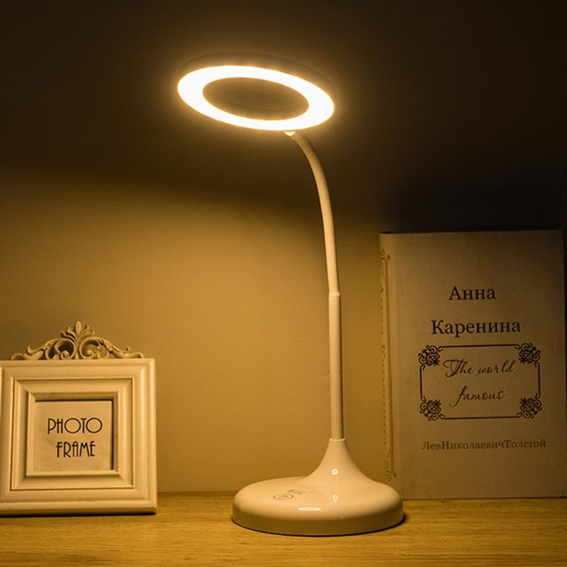 Đèn bàn LED Đèn có thể điều chỉnh độ sáng Đèn bàn có thể sạc lại Đèn bàn mới kích thước lớn Bảo vệ mắt Đèn bàn có sạc USB cho học sinh Màu trắng lạnh / Trắng ấm