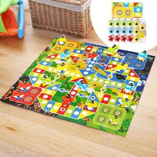 SU Child 3D Flight Chess Game Mat Carpet Ludo Game Baby Kids Educational Toys