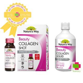 Nature s Way Beauty Collagen Shot thủy phân (10x50ml) Collagen Liquid dạng nước (500ml), Úc có hạt nho và vitamin E thumbnail