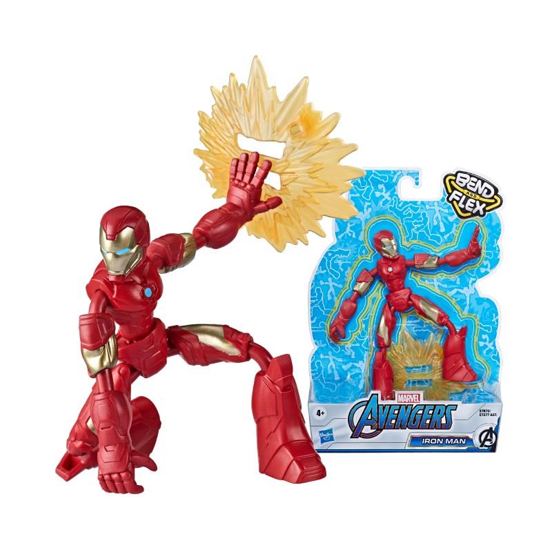 Đồ chơi nhân vật Iron Man Avengers Bend N Flex