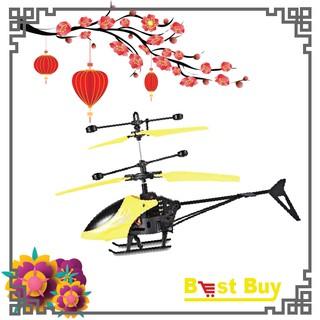 [Nhập TOYHAPPY giảm 10%]Máy bay trực thăng helicopter cảm ứng bằng tay có đèn led dành cho bé yêu.