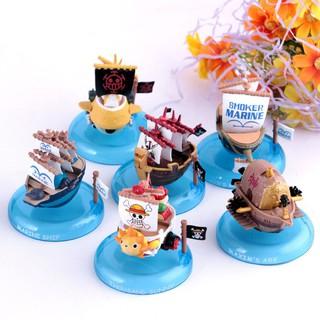 One Piece 6pcs/Lot Kawaii Pirate Ship Pvc Action Figure Doll Kids Model Toy