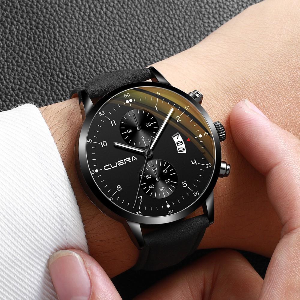 Đồng hồ nam CUENA JAPAN CU882 DOanh Nhân 2019 Lịch Ngày Sang Trọng