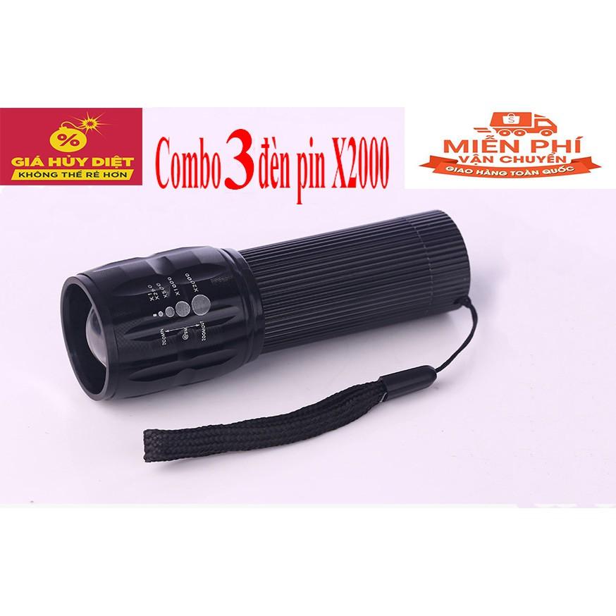 Combo 3 đèn pin chuyên dụng X2000 tặng 3 khăn ống đa năng (Free ship toàn quốc) - 3259860 , 762999972 , 322_762999972 , 99000 , Combo-3-den-pin-chuyen-dung-X2000-tang-3-khan-ong-da-nang-Free-ship-toan-quoc-322_762999972 , shopee.vn , Combo 3 đèn pin chuyên dụng X2000 tặng 3 khăn ống đa năng (Free ship toàn quốc)