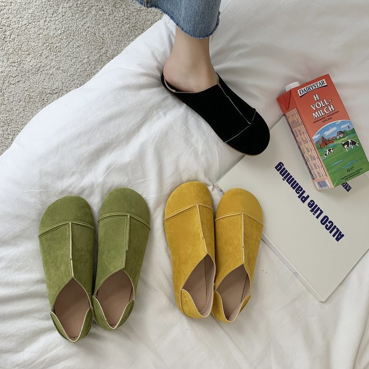 Giày Lười Da Lộn Thời Trang Dành Cho Nữ