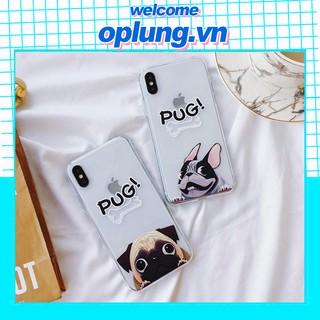 Ốp lưng iphone Họa tiết cún Pug đáng yêu ip 6 6plus 6s 6s plus 7 7plus 8 8plus x xs xs max 11 11 pro 11 promax (a48) thumbnail