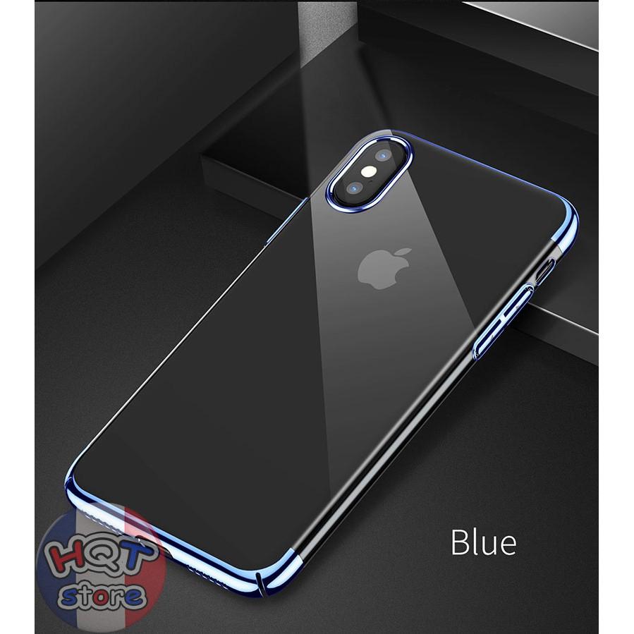 Ốp lưng trong suốt viền màu Baseus Glitter cho Iphone X