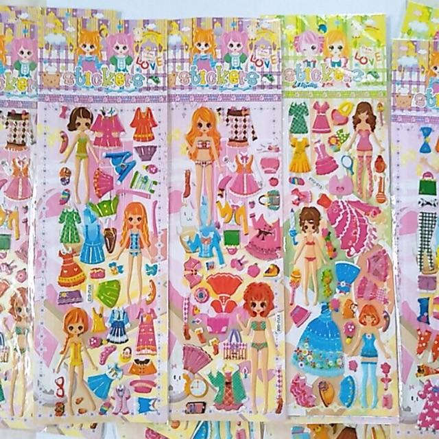 Hình dán sticke thiết kế váy đầm công chúa
