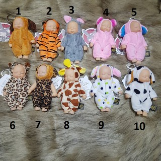 Búp bê Ngủ em bé đang ngủ Kiểu Áo thú full silicon 12 cm – Simulated Babies Sleeping Dolls Rabbit Plush Baby Doll Kids