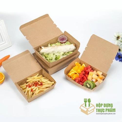[FreeShip] Combo 100 hộp giấy đựng thức ăn nhanh, hộp đựng thực phẩm sạch - xưởng sản xuất trực tiếp