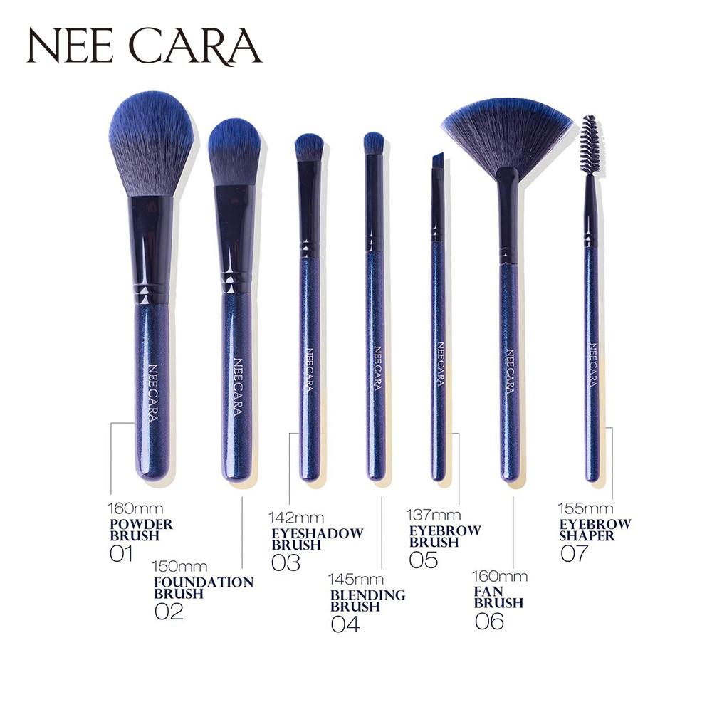 Có sẵn - Chính hãng Thailand] NEE CARA - Set cọ 7 cây màu đen 7 Piece  Makeup Brush | Shopee Việt Nam