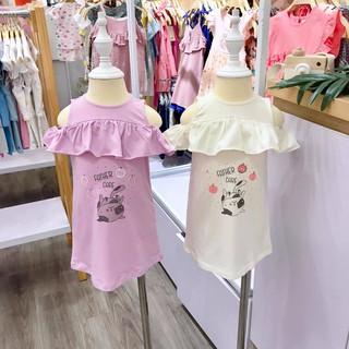 Váy Trẻ em bèo hở vai - Mèo FatherCare FC298 FC299 thumbnail