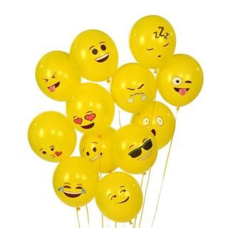 MYHOMEVER 10pcs Yellow Smiling Face Expression Emoji Latex Balloons Wedding Decor