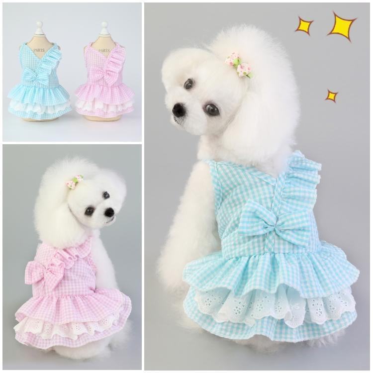 20 quần áo mùa hè cho chó mèo con chó nhỏ mùa hè váy mỏng Teddy Bichon chó con quần áo mùa xuân và m