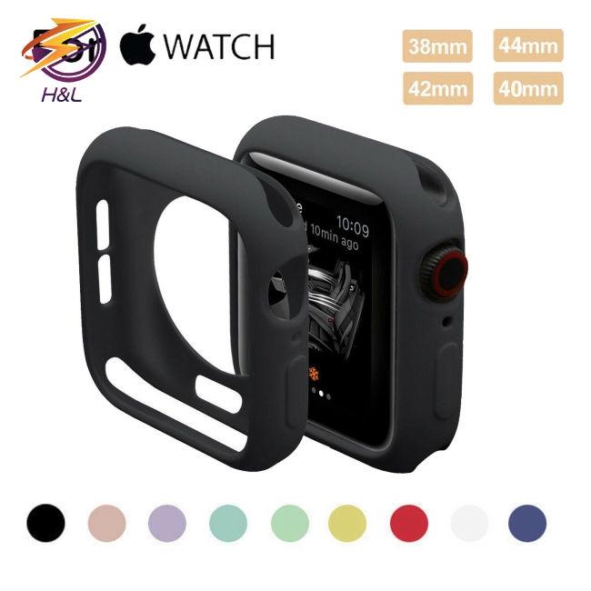 Khung bọc chống chấn động bằng silicon 38/40/42/44mm cho Apple Watch Series 4 3 2 1
