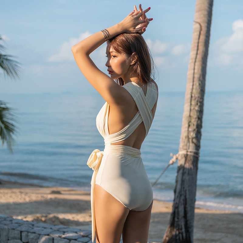 Bikini liền thân thắt eo, đồ bơi nữ 1 mảnh quyến rũ