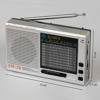 RADIO SW-36 dùng pin tiểu tiện dụng đủ các băng đài