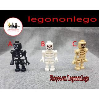 Minifigure mô hình bộ xương Ninjago Halloween hải tặc cướp biển