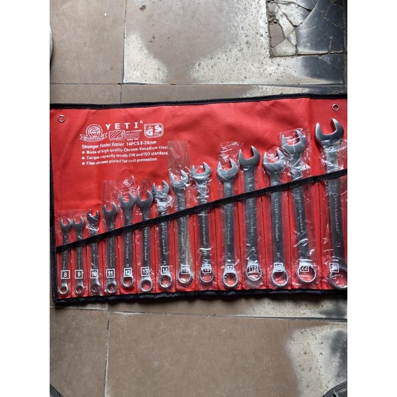 Bộ Cờ Lê (Cle )8-24 Yetir ( Usa Standard )14 Chi Tiết