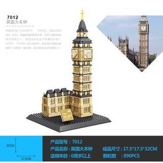 Lego xếp hình Tháp Big Ben WANGE 7012 NLG0044-2