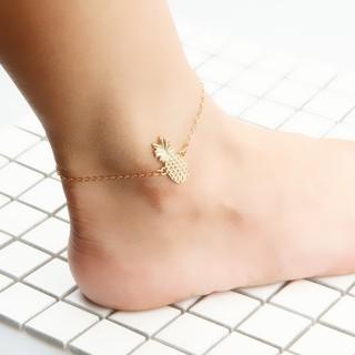 Phụ nữ vàng dứa vòng chân chân chuỗi bãi biển mắt cá chân vòng đeo tay thumbnail