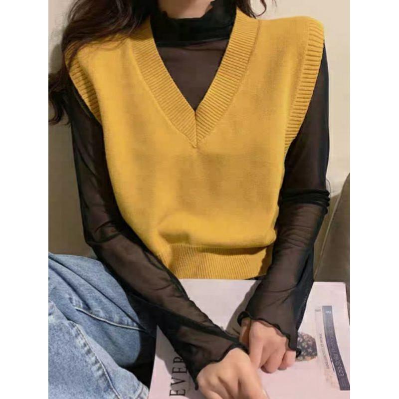 Áo gile len Hàn Quốc nhiều màu   Ulzzang WinterFashion