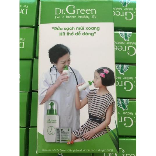 Bình Rửa Mũi Dr.Green Tặng Kèm 10 Gói Muối Lô Hội